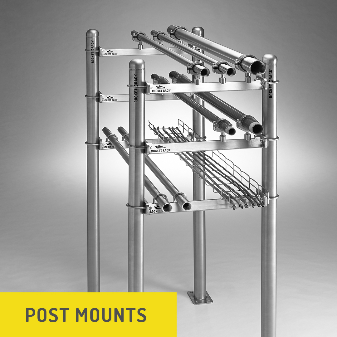 Post Mount Conduit & Pipe Support